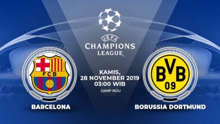 Berikut prediksi pertandingan Barcelona vs Borussia Dortmund dalam laga kelima Grup F Liga Champions 2019-2020. - INDOSPORT