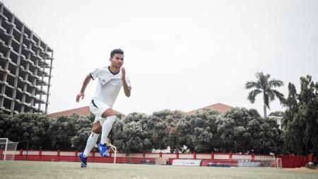 Bek timnas Indonesia U-23, Asnawi Mangkualam, yang juga bermain di klub Liga 1 PSM Makassar. - INDOSPORT