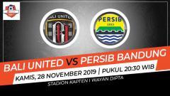 Indosport - Berikut prediksi pertandingan pekan ke-29 Shopee Liga 1 2019 antara Bali United vs Persib Bandung