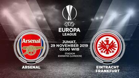 Berikut prediksi pertandingan sepak bola antara Arsenal vs Eintracht Frankfurt di matchday ke-5 Grup F Liga Europa 2019/2020. - INDOSPORT