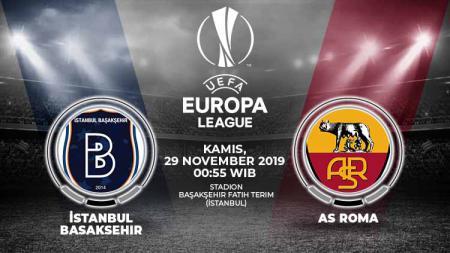 Prediksi laga Istanbul Basaksehir yang menjamu AS Roma pada matchday kelima Liga Europa, Jumat (29/11/19) dini hari, untuk menentukan kelolosan mereka ke babak selanjutnya. - INDOSPORT
