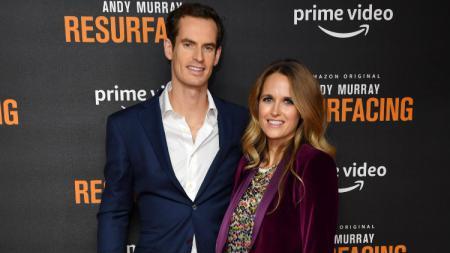 Petenis Andy Murray dan sang istri, Kim Sears di peluncuran film dokumenternya berjudul Resurfacing. - INDOSPORT