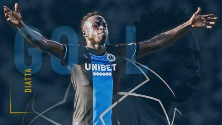 Raksasa Serie A Liga Italia, AC Milan, dikabarkan serius untuk memperjuangkan pemain Club Brugge rekan senegara Sadio Mane dari Senegal, Krepin Diatta. - INDOSPORT