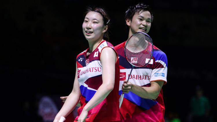 Ganda campuran Jepang, Yuta Watanabe dan Arisa Higashino Copyright: Shi Tang/Getty Images