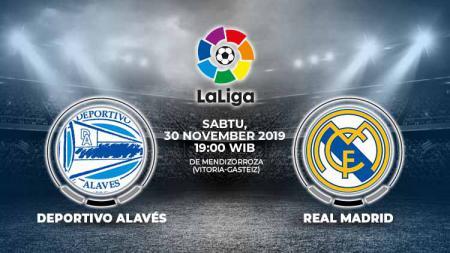 Berikut link live streaming pertandingan antara Alaves vs Real Madrid dalam lanjutan LaLiga Spanyol pekan ke-15, Sabtu (30/11/19) pukul 19.00 WIB. - INDOSPORT