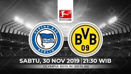 Berikut prediksi pertandingan antara Hertha BSC vs Borussia Dortmund pada pekan ke-13 Bundesliga Jerman musim 2019-2020. - INDOSPORT