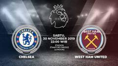 Indosport - Chelsea akan menjamu West Ham United pada pekan ke-14 Liga Inggris 2019-2020. Duel ini dapat disaksikan secara live streaming mulai pukul 22.00 WIB.