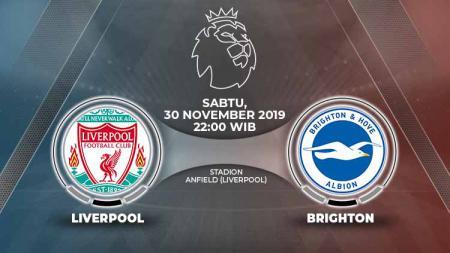 Prediksi pertandingan Liga Inggris 2019-20 antara Liverpool vs Brighton & Hove Albion tampaknya membuat The Reds terus menggapai kemenangan beruntun. - INDOSPORT