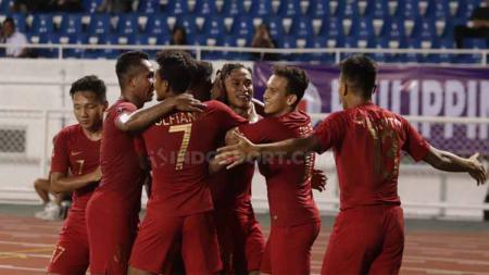 Hasil pertandingan cabang olahraga sepak bola pertandingan SEA Games 2019 antara Timnas Indonesia U-23 vs Singapura U-23 berakhir 2-0, Kamis (28/11/19). - INDOSPORT