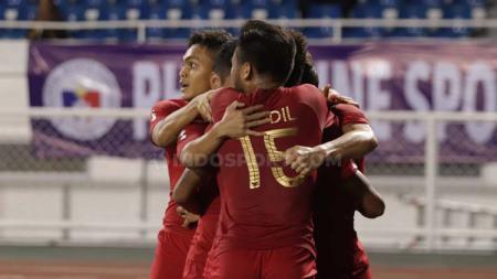 Timnas Indonesia U-23 ditantang Myanmar di semifinal cabor sepak bola SEA Games 2019. - INDOSPORT