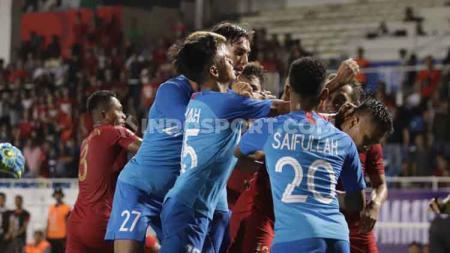 Sebanyak 9 pemain Timnas Singapura akan mendapatkan hukuman berat karena melanggar aturan di SEA Games 2019. - INDOSPORT