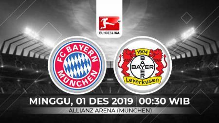 Berikut tersaji link live streaming pertandingan sepak bola Bundesliga Jerman 2019-2020 antara Bayern Munchen vs Bayer Leverkusen. - INDOSPORT