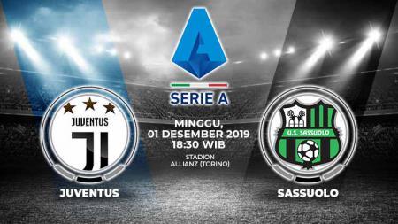 Juventus akan segera berhadapan dengan Sassulo di laga pekan ke-14 Serie A Liga Italia pada hari ini, Minggu (01/12/19). - INDOSPORT