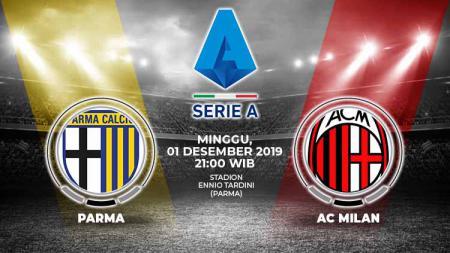 Berikut tersaji link live streaming pertandingan sepak bola Serie A Liga Italia 2019-2020 antara Parma vs AC Milan yang akan berlangsung pada Minggu (01/12/19). - INDOSPORT