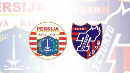 Logo klub Liga 1 Persija Jakarta dan FC Tokyo. - INDOSPORT