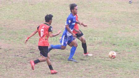 Pertandingan antara Persebi melawan Persekat dalam kompetisi Liga 3 Regional Jawa di Stadion Pandan Arang, Boyolali - INDOSPORT