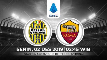 Berikut link live streaming pertandingan antara Hellas Verona vs AS Roma dalam lanjutan Serie A Liga Italia pekan ke-14, Senin (02/12/19) dini hari WIB. - INDOSPORT