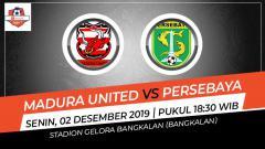 Indosport - Link live streaming pertandingan Liga 1 2019 Madura United vs Persebaya Surabaya, Senin (02/12/19) pukul 18.30 WIB.