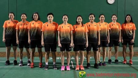 Skuat bulutangkis putri Indonesia untuk SEA Games 2019. - INDOSPORT