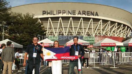 Penampakan jelang pembukaan pagelaran multi-event SEA Games 2019 ternyata banyak tribune kosong di Philippine Arena, Filipina. - INDOSPORT