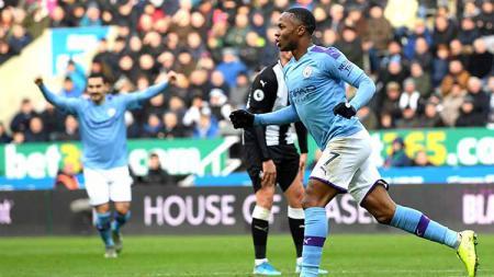 Hasil pertandingan Liga Inggris 2019-20 antara Newcastle United vs Manchester City berakhir dengan skor 2-2, Sabtu (30/11/19). - INDOSPORT
