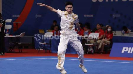 Aksi pewushu Indonesia, Edgar Xavier Marvelo di SEA Games 2019. - INDOSPORT