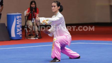SEA Games 2019 di Filipina jadi pengalaman berharga bagi pewushu Alexandra Calista Setiawan. - INDOSPORT