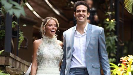 Lepas status duda, Kaka nikahi kekasihnya, Carolina Dias. - INDOSPORT