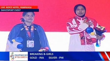 Dwi Cindy Desyana menyumbang medali emas lewat cabor Dancesport SEA Games 2019. - INDOSPORT