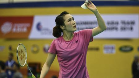 Pebulutangkis Vietnam, Vu Thi Trang yang mengalahkan Fitriani di SEA Games 2019. - INDOSPORT