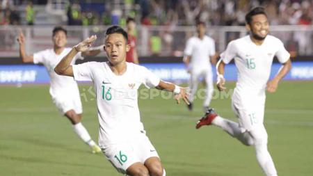 Sani Rizki Fauzi saat membela Timnas Indonesia di SEA Games 2019 lalu. - INDOSPORT