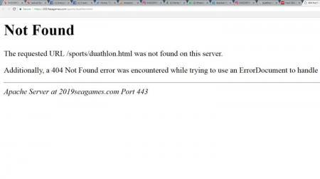 Situs SEA Games 2019 tidak dapat diakses sejak Senin (02/12/2019) pagi. - INDOSPORT