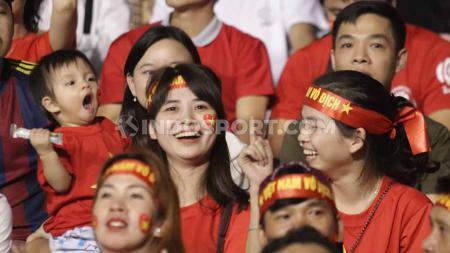 Tantang Timnas Indonesia U-23, Vietnam datangkan 'fans cantik' di final SEA Games 2019, Selasa (10/12/19) di Stadion Rizal Memorial, Filipina. - INDOSPORT