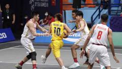 Indosport - Timnas Basket 3x3 Indonesia melawan Thailand di Fil Oil Flying Center V, Metro Manila, Senin (02/12/19).