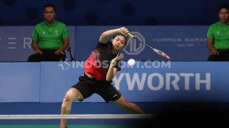 Hasil pertandingan bulutangkis tunggal putri Gregoria Mariska vs wakil Jepang, Akane Yamaguchi di turnamen Indonesia Masters 2020. - INDOSPORT