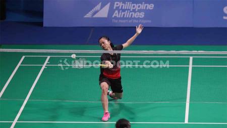 Pebulutangkis Fitriani gagal melangkah ke babak kedua Indonesia Masters 2020 setelah kalah dari wakil China, Han Yue, Rabu (15/01/20) di Istora Senayan,Jakarta. - INDOSPORT