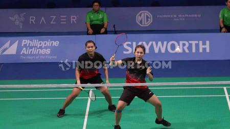 Siti/Ribka berhasil melangkah ke babak utama kualifikasi Indonesia Masters 2020 setelah berhasil mengandaskan perlawanan Pooja Dandu/Sanjana Santosh. - INDOSPORT