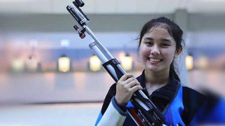 Atlet menembak putri Indonesia, Vidya Rafika Rahmatan Toyyiba. - INDOSPORT