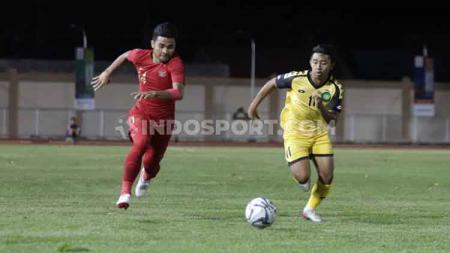 Situasi pertandingan keempat Grup B SEA Games 2019 antara Timnas Indonesia U-23 vs Brunei Darussalam, Selasa (03/12/19). - INDOSPORT