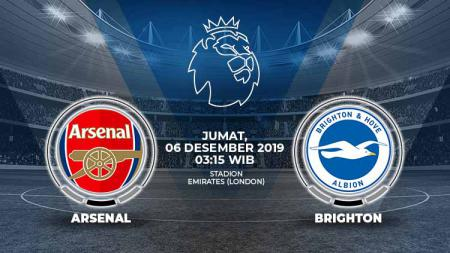 Prediksi Pertandingan Liga Inggris antara Arsenal vs Brighton & Hove Albion. - INDOSPORT