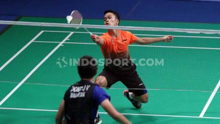 Pada match ketiga, tunggal putra Indonesia, Anthony Ginting, berhasil mengalahkan wakil dari Malaysia Soong Joo Ven pada Final di Muntinlipa Sport Complex, Manila, Rabu (04/12/19).