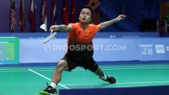 Indosport - Tunggal putra Indonesia Anthony Ginting berhasil mengalahkan wakil dari Malaysia Soong Joo Ven pada Final di Muntinlipa Sport Complex, Manila, Rabu (04/12/19).