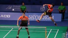 Indosport - Ganda putra Indonesia, Wahyu Nayaka/Ade Yusuf menang lawan wakil Vietnam, Tuan Duc Do/Hong Nam Pham di babak 16 besar SEA Games 2019.