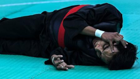 Atlet silat Malaysia di SEA Games 2019, Muhammad Faizul. - INDOSPORT