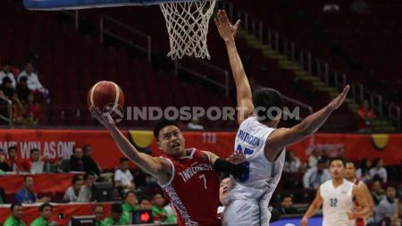 Andakara Prastawa di laga basket Timnas Indonesia vs Thailand SEA Games 2019. - INDOSPORT
