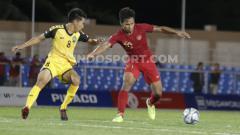 Indosport - Pemain Timnas U-23, Osvaldo Haay mencetak tiga gol dalam laga SEA Games 2019 melawan Timnas Brunei Darussalam.