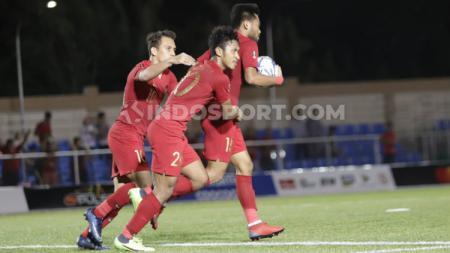 Tiga pemain Timnas Indonesia U-23 saat melawan Brunei: Egy Maulana Vikri, Osvaldo Haay, dan Saddil Ramdani. - INDOSPORT
