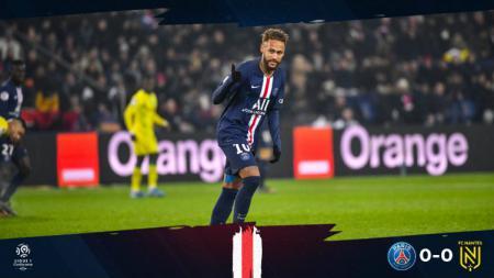 Neymar dalam pertandingan PSG vs Nantes yang saat itu skor masih 0-0. - INDOSPORT