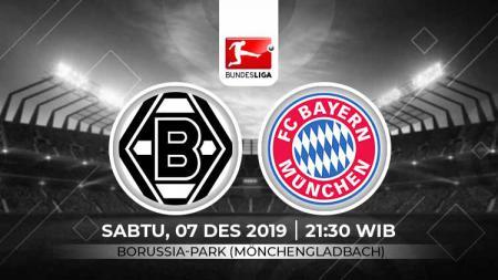 Pertandingan antara Borussia M'gladbach vs Bayern Munchen. - INDOSPORT