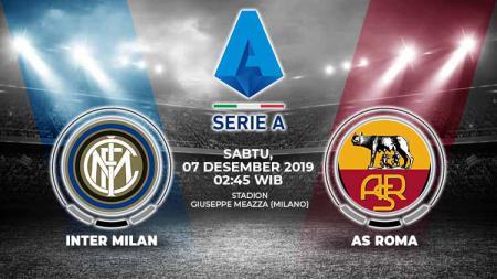 Berikut prediksi pertandingan antara Inter Milan vs AS Roma dalam lanjutan Serie A Italia pekan ke-15, Sabtu (07/12/19) dini hari WIB di Giuseppe Meazza. - INDOSPORT
